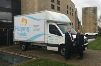 Helping Hands House2Home van received from Aston Martin by Lianne Kirkman, CEO of Helping Hands Community Project