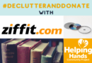 Use Ziffit to declutter and donate your CDs, DVDs, books and games through Ziffit